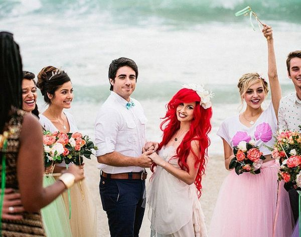 This Hipster Little Mermaid Wedding Is Spot On