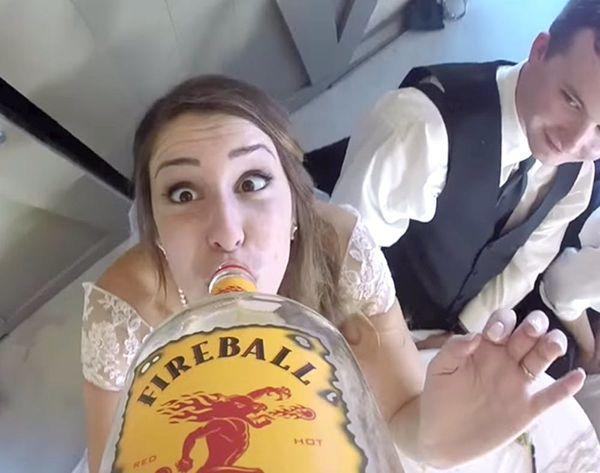 GoPro + Bottle of Booze = Best Wedding Video Ever
