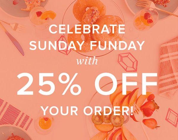 Celebrate Sunday Funday With 25% Off the B+C Shop!