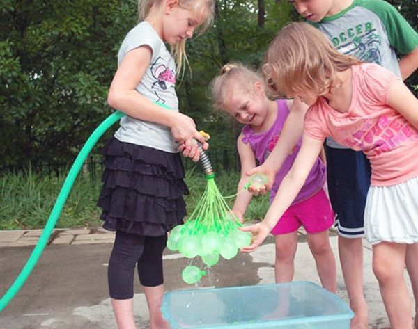 This Dad Invented a Way to Stage the Most Epic Water Balloon Fight