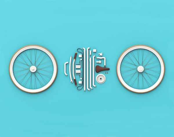 You Can Put These 21 LEGO-Like Pieces Together to Build a Bike