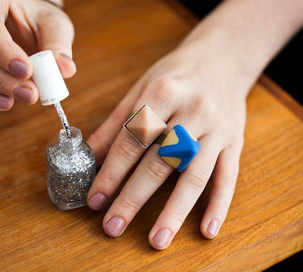 Make These Chic Gilded Pyramid Rings
