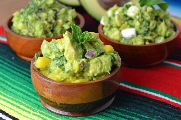The Ultimate Guacamole Trifecta: Bacon Dill, Feta Basil, and Spicy Mango Mint