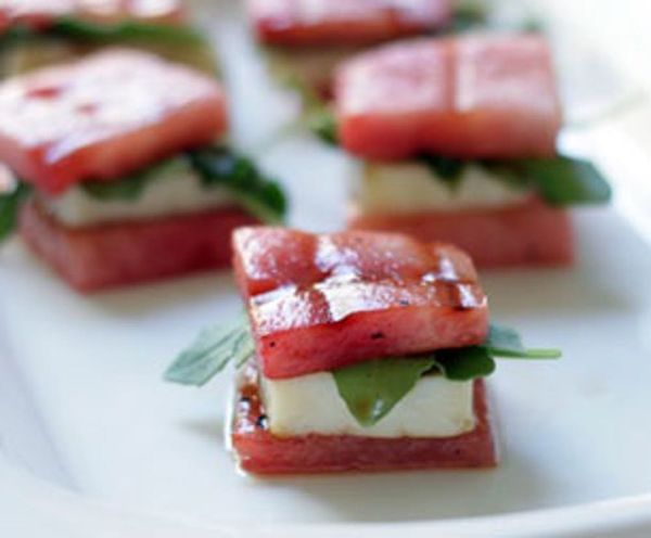 Summer Comfort Food: Watermelon Grilled Cheese Bites