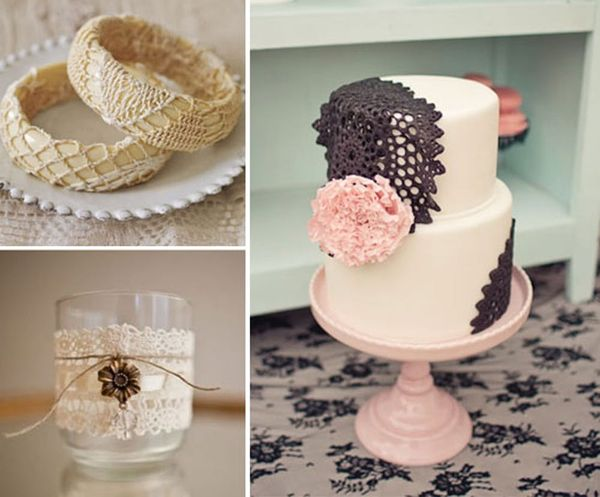 Lace Up Your Wedding: 6 DIY Projects